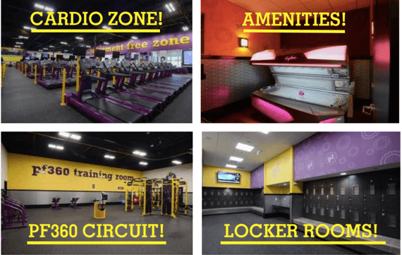 planet fitness gym layout